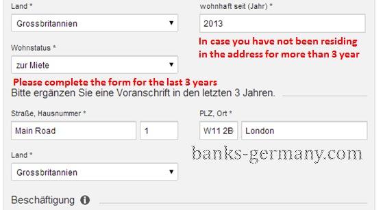 DKB Cash - Previous Address Details