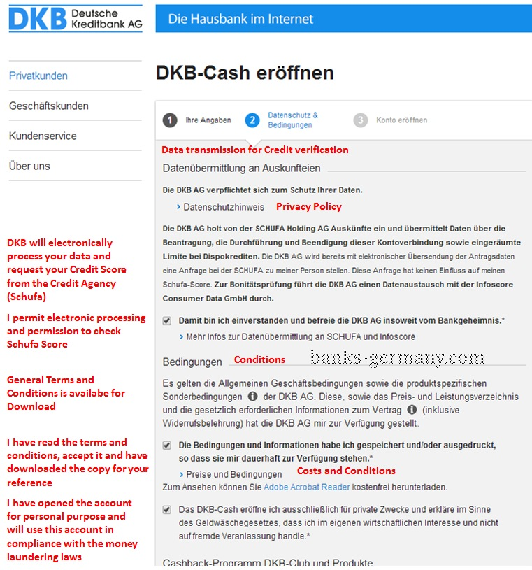 DKB Cash - Data Privacy & Declaration