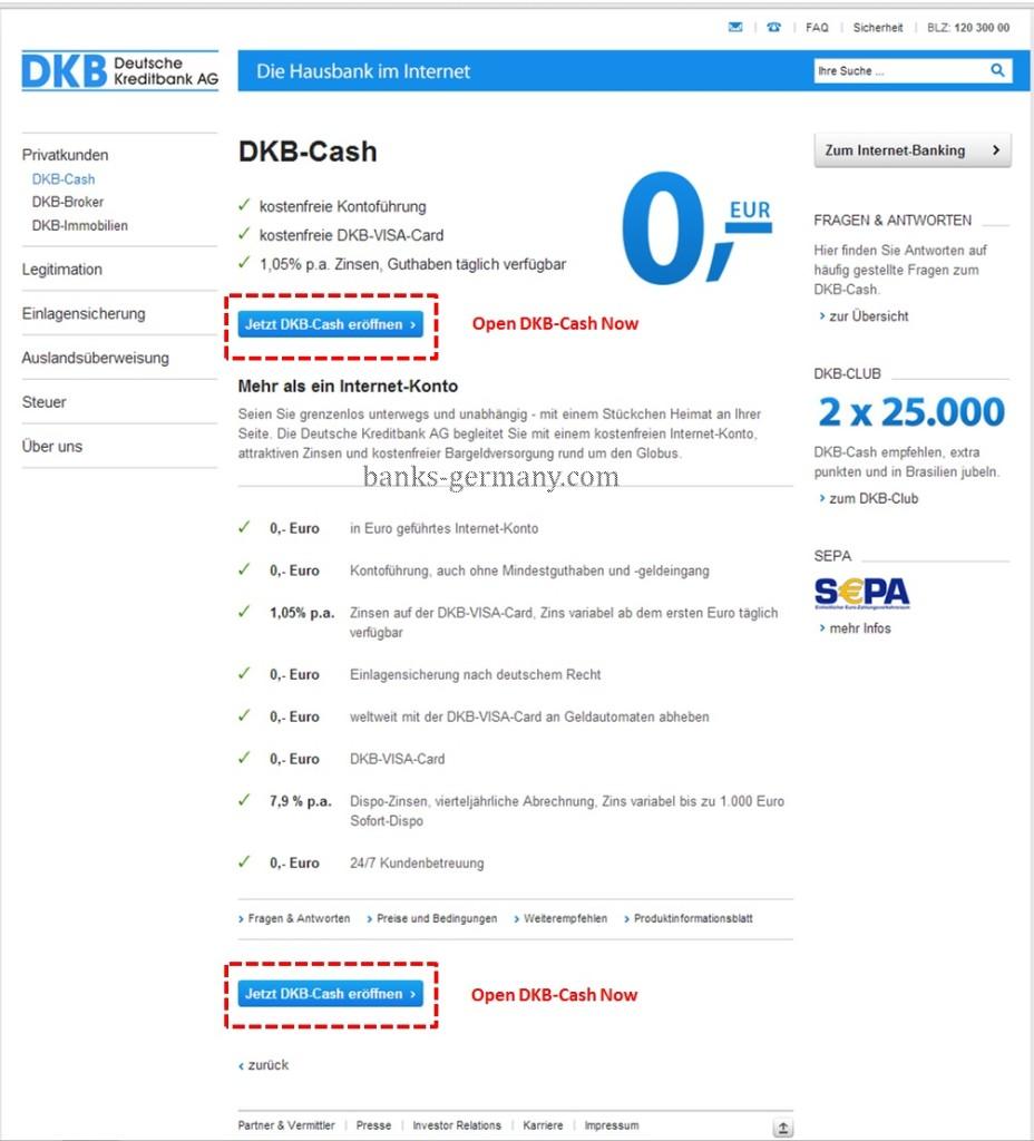 DKB Bank - Start Page