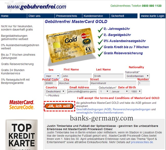 Advanzia Mastercard GOLD - Apply