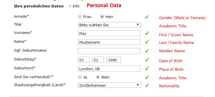 Personal Details - Comdirect